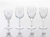 Wine Glasses - Red and White