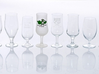Stemmed beer Glasses