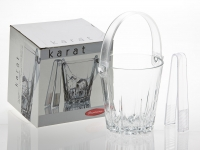 Karat Ice Bucket with Tongs