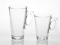 V Shaped Glass Coffee Mug